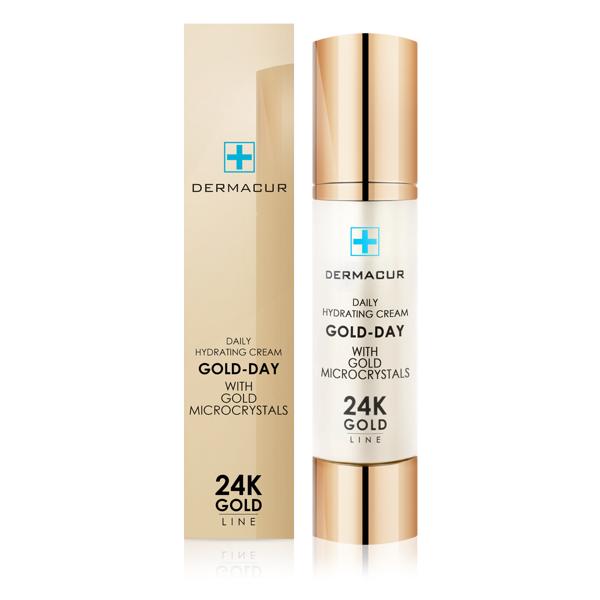 Dienas krēms ar 24K zelta daļinām Dermacur Gold